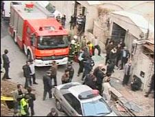 Scene of the blast