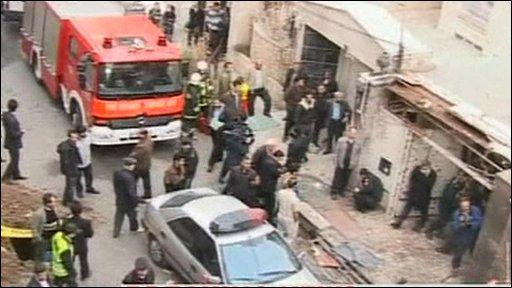 Scene of the blast in Tehran
