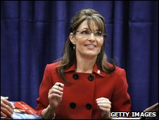 Sarah Palin at book-signing event
