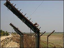 Fence on the India-Bangladesh border