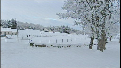 Scottish snow scene