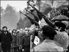 The IRA funeral for Bobby Sands