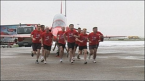 The Red Arrows team