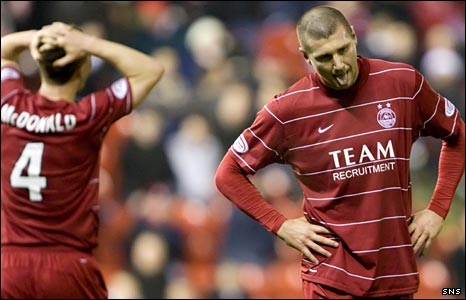 Tommy Wright displays his disappointment with Aberdeen