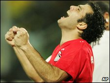 Emad Moteab of Egypt celebrates