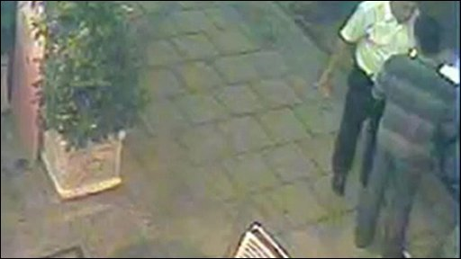 CCTV footage shows Mr Dizaei and Mr Al-Baghdadi