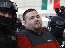 Teodoro Garcia Simental being arrested by Mexican police