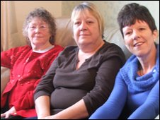 Irene Smith and her daughters Sue Marsh and Sandra Toy from Ipswich