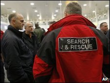 Search and rescue teams at Gatwick