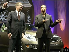 Tiger Woods introducing the 2008 Buick Enclave  in 2006