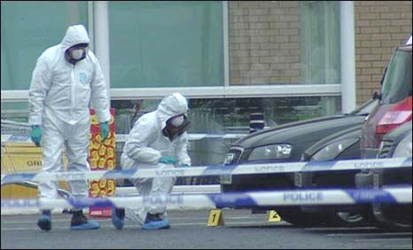 Forensic teams at the scene