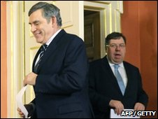 Gordon Brown and Brian Cowen