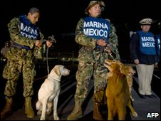 Mexican rescue team