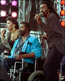 Valerie Simpson, Teddy Pendergrass and Nicholas Ashford