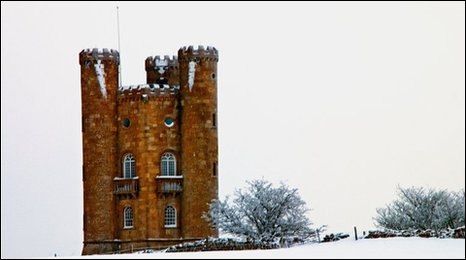 Broadway Tower, Worcestershire, in the snow, by Shaun Dovey.