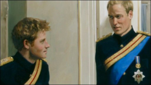 The portrait of Princes William and Harry