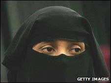 Woman wearing niqab, file pic