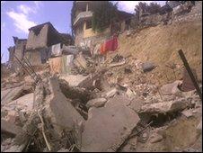 Earthquake damage. Picture: Eric Lotz