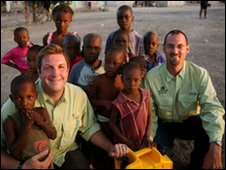 David Darg (left) with Eric Lotz from Operation Blessing