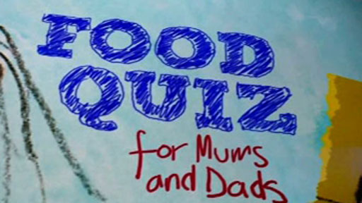 A graphic for the food quiz
