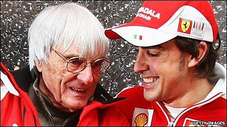 Bernie Ecclestone and Fernando Alonso