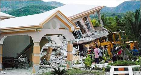 Collapsed hotel in Jacmel, Haiti 
