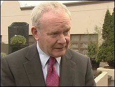 Martin McGuinness said critical discussions were taking place
