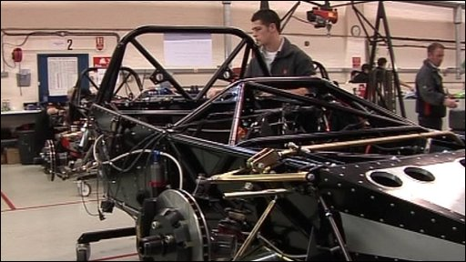 SRZero sports car being built