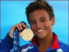 World diving champion Tom Daley