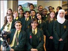 Pupils from Hillcrest School in Birmingham