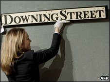 The Downing Street sign