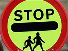 school crossing patrol sign