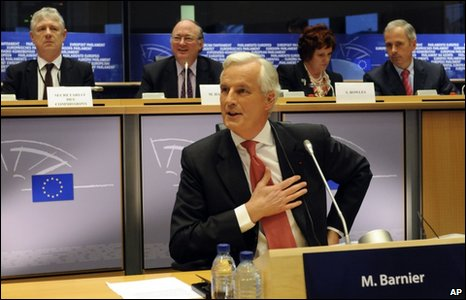 Michel Barnier at the European Parliament