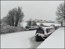 The frozen canal near Bromsgrove, by Paul Cockram. Send your pcitures to worcester@bbc.co.uk