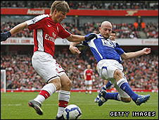 Andrei Arshavin and Lee Carsley