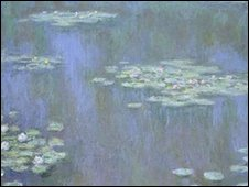 Waterlilies by Monet - courtesy of the National Museum of Wales