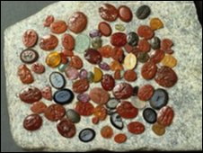 Roman gemstones from Caerleon