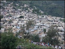 A shantytown on the outskirts of Port-au-Prince [Photo: Matt Marek/American Red Cross]