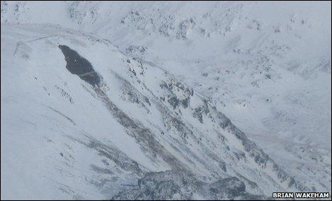 Snowdonia avalanche