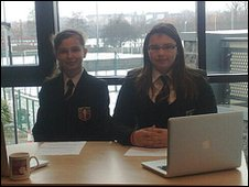 School Reporters Weronica and Angelika from Brentside High School in West London