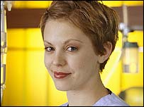 Kelly Adams in Holby City
