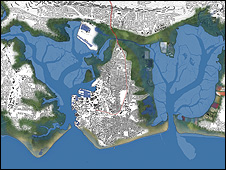 Map of Portsmouth's coastline (Image: Ice/Riba)