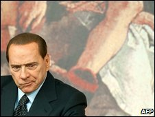 Silvio Berlusconi in Rome, 13 January 2010