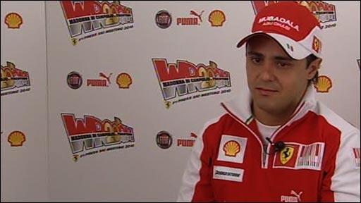 Ferrari's Felipe Massa talks to BBC Sport's Jonathan Legard