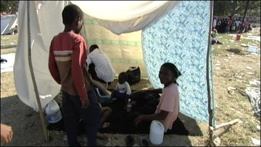 Camp in Port-au-Prince