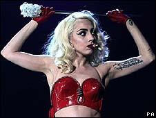 Lady Gaga, performing in London in December