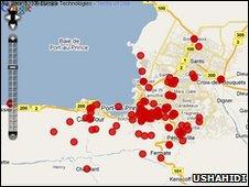 Ushahidi screenshot