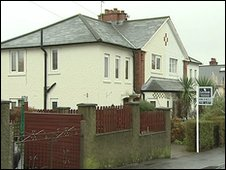 Two men were arrested at the house in the Belmont area of Belfast