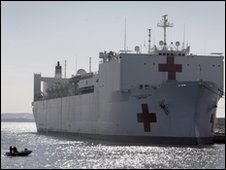 The USNS Comfort in Baltimore, 14 Jan