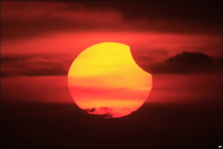 Partial solar eclipse viewed from Manila